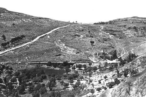 פליקס בונפיס, עמק קדרון והר הזיתים בירושלים, 1880