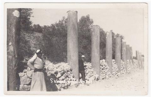 כרימה עבוד, שכם, 1925, גלויה סרוקה