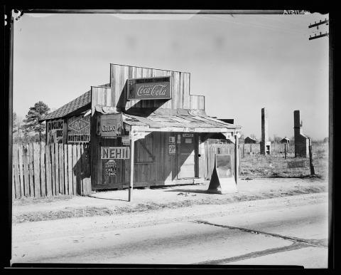 ווקר אוונס, צריף קוקה קולה באלבמה, דצמבר 1935