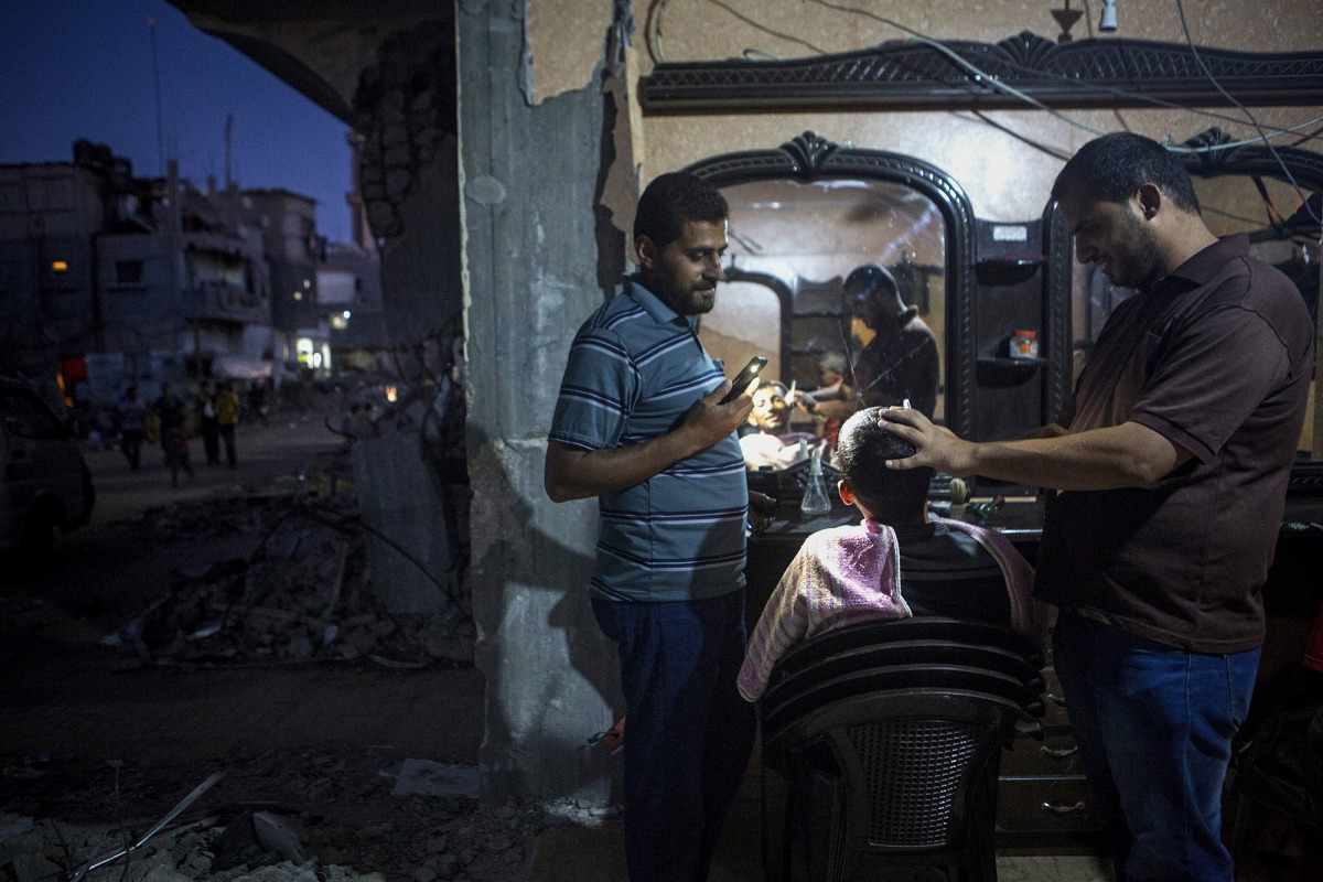 Gaza aftermath, Khuza'a, Gaza Strip, 9.9.2014
