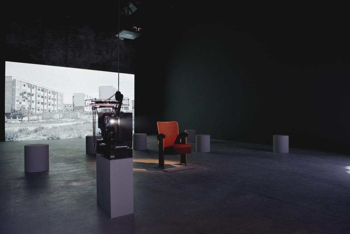 Akram Zaatari. Letter to a Refusing Pilot, 2013. Installation view, Lebanese Pavilion, 55th International Venice Biennale. Photo: Marco Milan.
