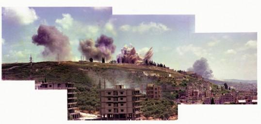 "Akram Zaatari. Saida June 6, 1982\"", 2006-09, Composite Photograph, C-Print, 92 x 190 cm"